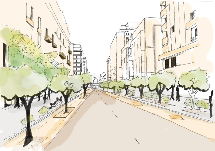 Foto Pedestrian Friendly Street © Architekten Tillner & Willinger