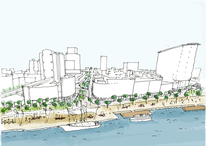 Foto Concept for the Pearl River Embankment Silja Tillner