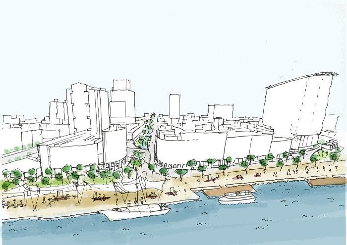 Foto Concept for the Pearl River Embankment Silja Tillner