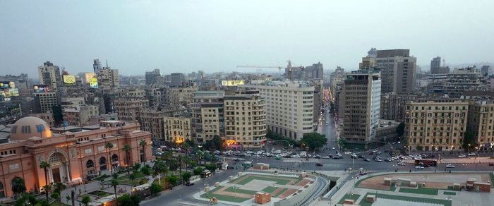 Foto Tahrir Square and the Egyptian Museum (left) © OHK Consultants