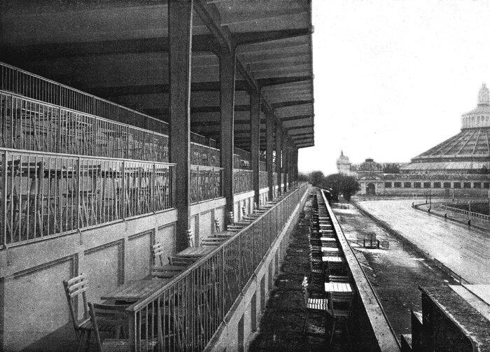 Foto Trabrennbahn in der Zwischenkriegszeit Bildachiv Nationalbibliothek